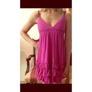New University of Pink Ruffle Dress